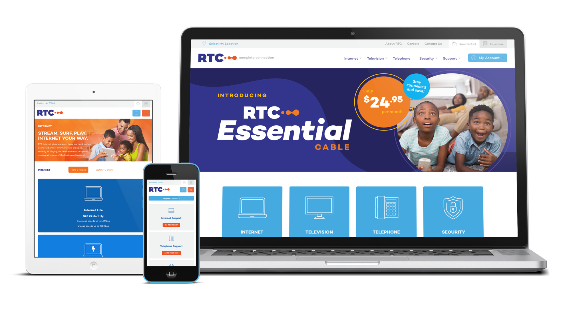 Reserve Telecommunications Responsive Design